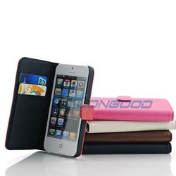 Top Quality New Style Mix Colors PU Leather Case For IPhone 5