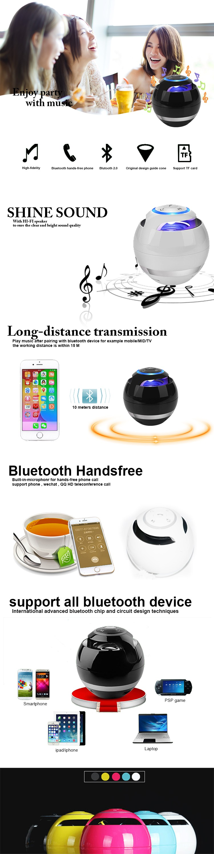 Christma gifts wifi portable speaker usb bluetooth speaker with led light