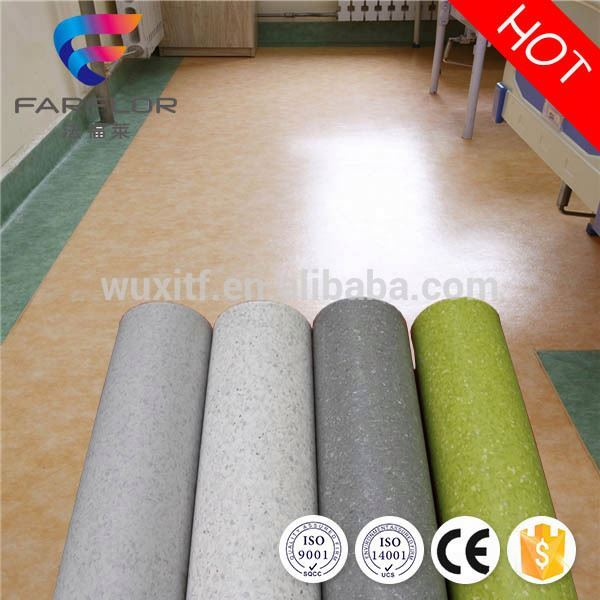 Hot sale homogeneous hospital pvc floor from China