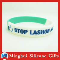 Customized Segmented Silicone Bracelet with Smile Face