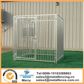 6'X6'X6' European style Galvanized square tubing dog kennel without solid roof