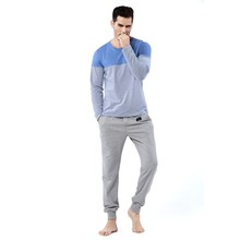 mens cotton pajamas new fashion men's sleepwear casual nightwear adult sexy men nightwear