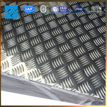 factory price embossed 5 bars 2mm 3mm aluminIum checkered sheet plate