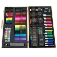 JF88869 180PCS 180 pcs pieces professional painting kids drawing tool Art Set in wooden case