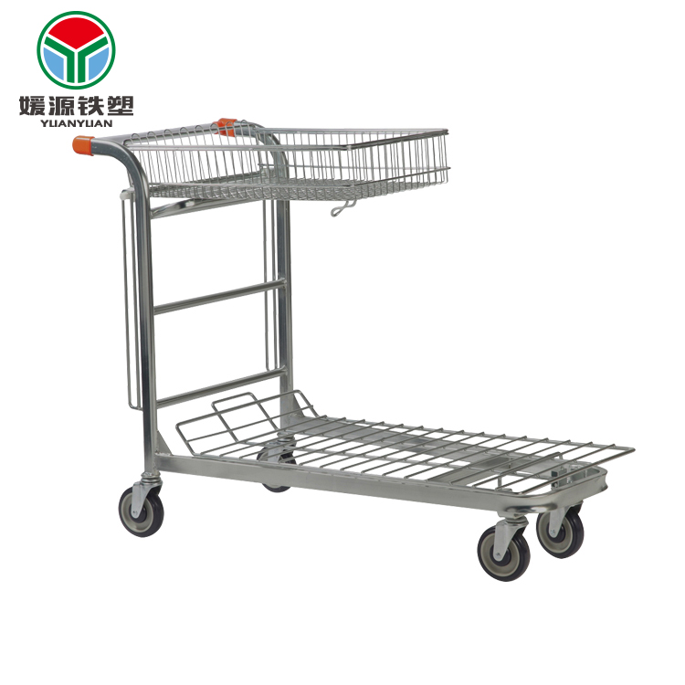 Eco-friendly basket folding nestable stock hand trolley