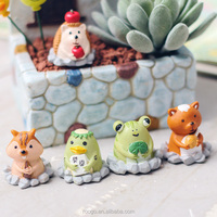 Zakka cartoon animal resin funny garden ornaments