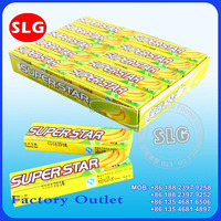 14g sweet super star banana chewing gum