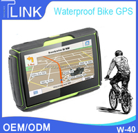 Waterproof IPX7 4.3inch bicycle gps navigation Wince 6.0 moto and bicycle gps w-40