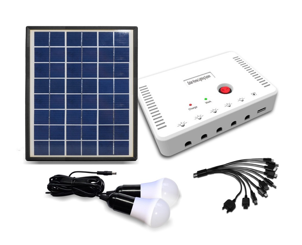 2016 hot sale 3w 5w 10w mini home solar power system for home