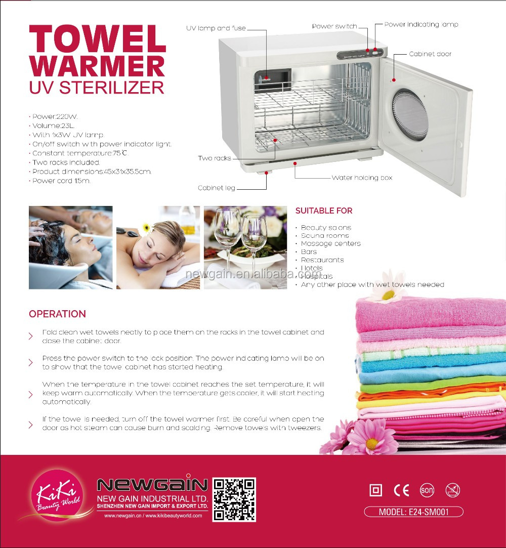 KIKI NEWGAIN Towel warmer UV sterilizer for Spa Centre. Professional Hair salon uv sterilizer E24-SM001