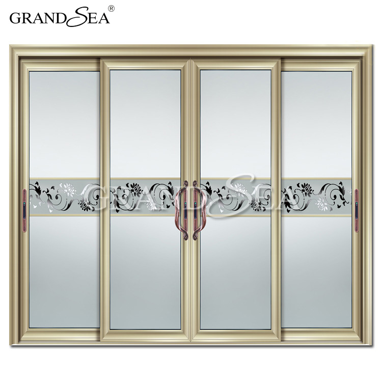 European Style French Door Patio Sliding Screen Door Double Sided