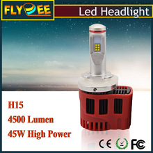 New arrival !!! 12 led chips 90w p6 45w 4500lm 9000 high lumen H7 9005 9006 HB3 Hb4 h15 auto headlight led car lamp h8
