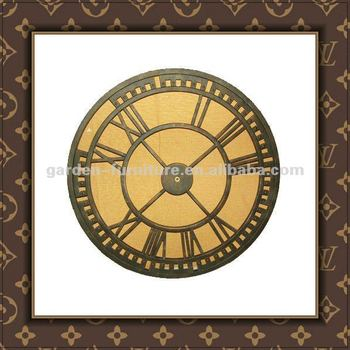 decorative metal wall clocks industrial style round home