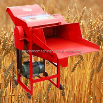 Portable gasoline engine wheat thresher
