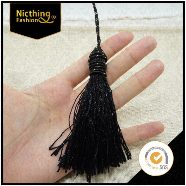 Hot sale handmade curtain tassels neck garments accessories trim fringe for curtain NTF014