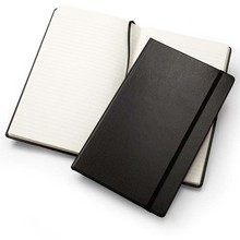Custom sublimation a5 leather pu notebook black cover