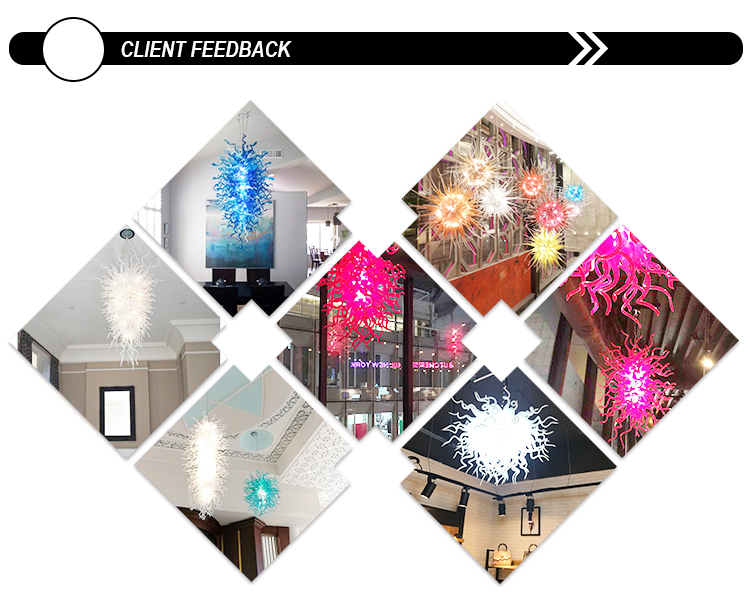 Longree LED Lighting Decoration Chandeliers Modern Crystal Hand Blown Glass Chandeliers