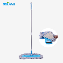 Cheap Microfiber Flat Mop With 2-piece Long Telescopic Iron Handle