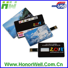 Christmas Celebration Slim Dual Imprint Card Usb Stick With Customized Color Printing Logo