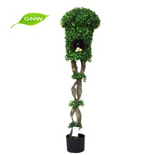 GNW BX1042 coal power plant green leaves plastic plant use for occasion decorative