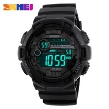 2017 new arrival skmei brand luxury dual time chrono men luminous led clock outdoor men sports 50m waterproof dive digital watch