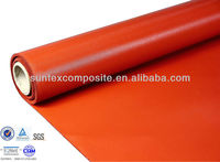 two sides 32 oz red silicon coated fiberglass waterproof roofing fabric clot