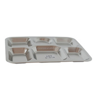 stainless steel compartment tray 6/7 big compartments stainless steel tray