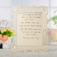 Customized free samples happy birthday handmade laser cut greeting card all occasions wholesale