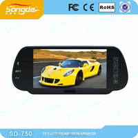 China supplier 7 inch rearview mirror monitor with mp5 and bluetooth