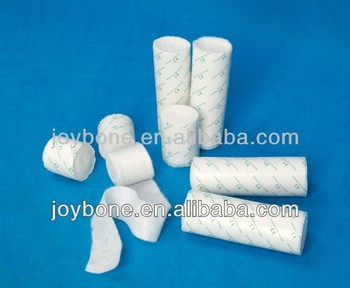 High quality soft bleached surgical cotton pad roll, medical padding, undercast padding