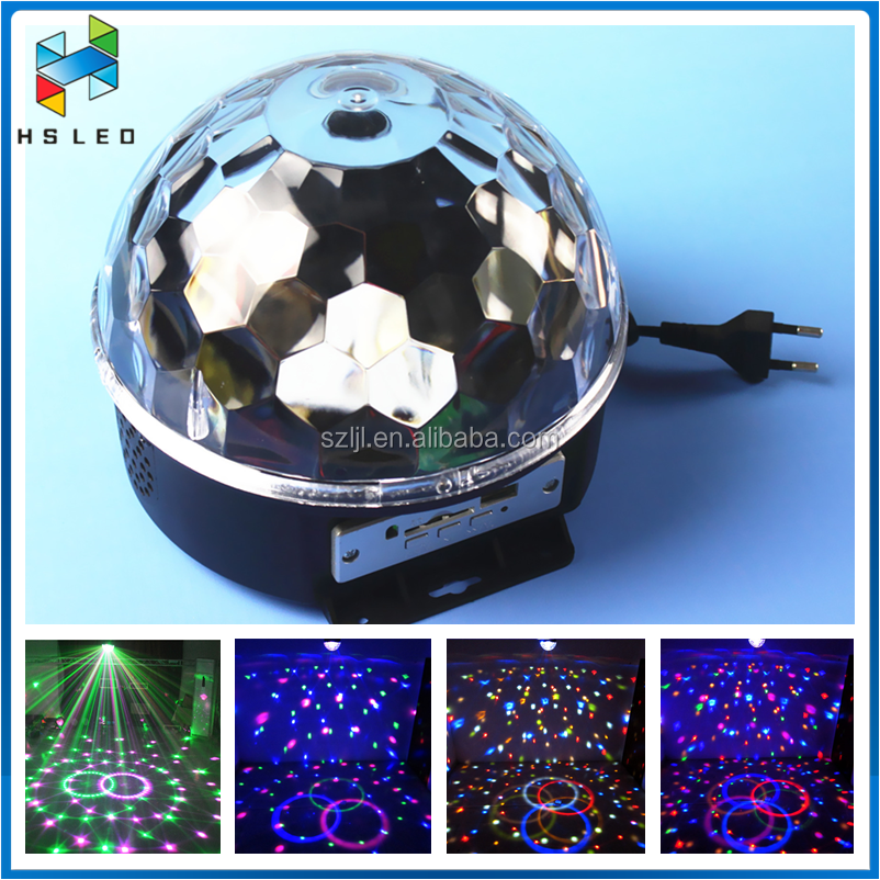 RGB full color Crystal Magic Ball 6W LED Disco Stage Light