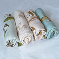 customized pattern printed infant muslin swaddle