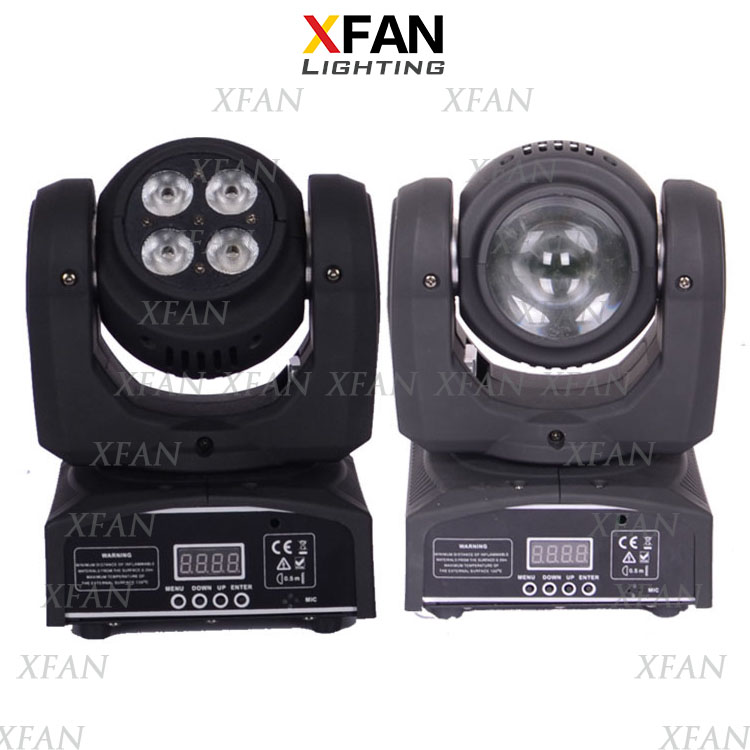 disco club mini two-side led 5x10W 4-in-1 RGBW beam wash Infinite moving head led stage light