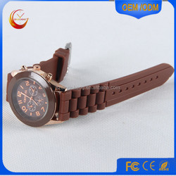 china manufacturer Geneva Silicone Rubber Jelly Gel Quartz Analog Sports Wrist Watch