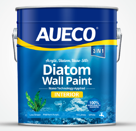 AUECO washable waterproof interior nano diatom wall paint with different color