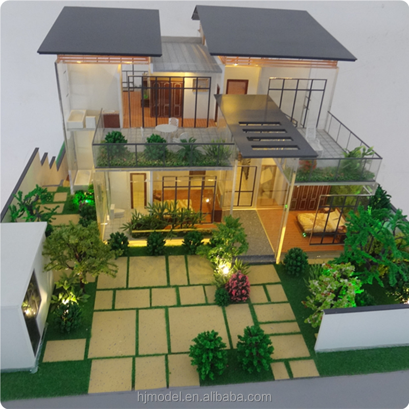3D architectural villa model with Led lighting