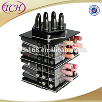 Spinning acrylic lipstick stand holder storage tower lipglosses organizer/spinning lipstick tower