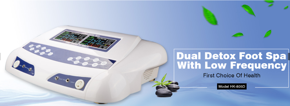 Detox spa chi ion cleanse machine for dual use