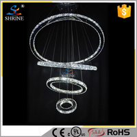Traditional Wire Hanging 4 Ring LED Crystal Chandelier pendant lighting Model:PL961