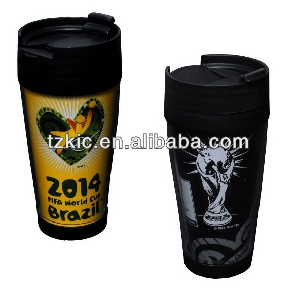 Double plastic tumbler 2014 World cup brazil