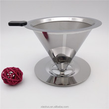 Stainless Steel Water Filter Basket Coffee Dripper Silver Coffee Filter Strainer