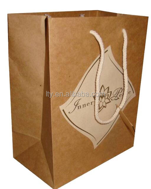 Luxury Recycled Top Quality Shopping Retail Kraft Paper Bag