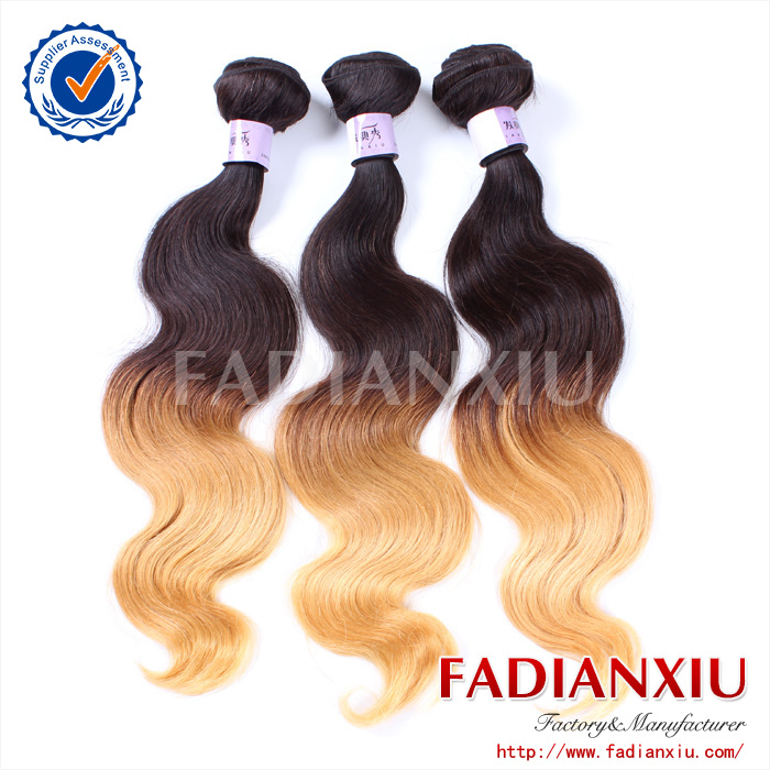 peruvian wavy hairstyle two tone ombre remy hair weaving