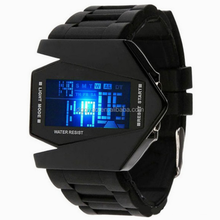 Newest 2013 Plane stealth silicone watches special personality electronic LED watch