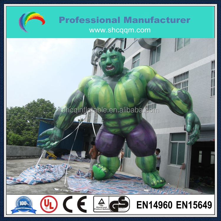inflatable green giant monster cartoon for sale/inflatable green monster character for sale
