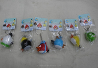 Dianman cut anime angry birds PVC keychain/plastic action figure factory