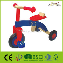 Wooden Tricycle Toys With Pneumatic Rubber Tire for Baby
