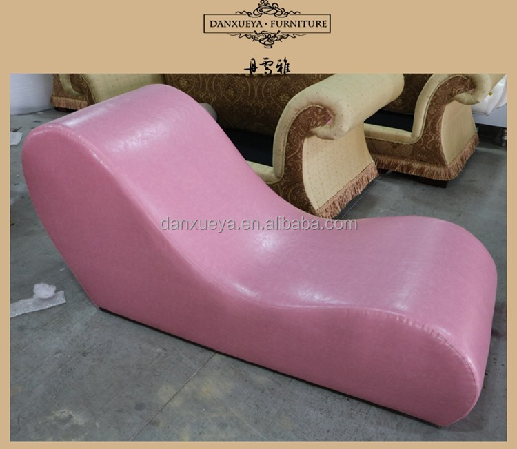 danxueya pink leather sex chair couples/sexy chaise lounge chairs/love seat chaise