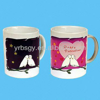 Manufacture custom diversity models music ceramic magic mugs color change mugs