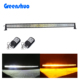 52 inch curved yellow and white strobe offroad led light bar strobe flash mode for grand cherokee jeep